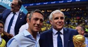 Başkan Ali Koç'tan Obradovic'e tam destek! Yönetim tam kadro maça geldi