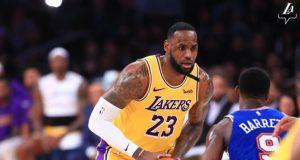 Lebron James, Lakers - Knicks maçından görsel
