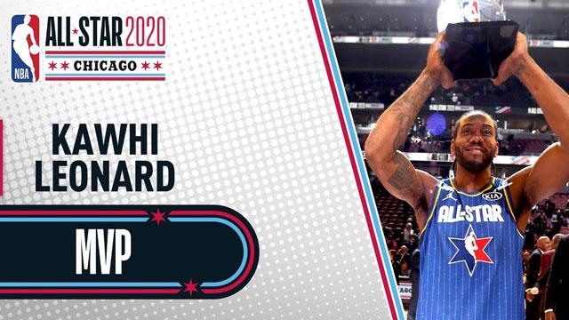 Kawhi Leonard All Star'ın MVP'si seçildi