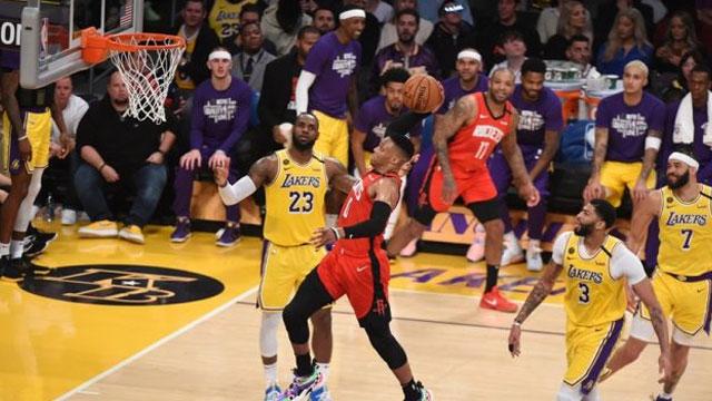 Westbrook büyük oynadı Rockets Lakers'ı devirdi! (Video Özet)
