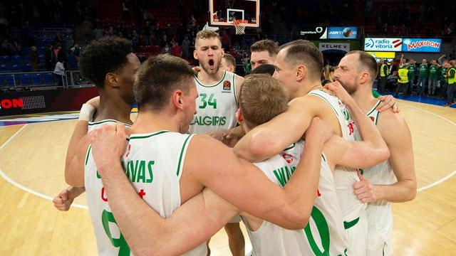 Zalgiris Kaunas Baskonia'yı mağlup ederek play-off yarışına girdi